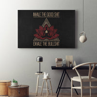 INHALE THE GOOD SH*T Buddha Meditation - Landscape Luxury High Quality Canvas Wall Art-YogaStatement.com