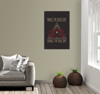 INHALE THE GOOD SH*T Buddha Meditation - Portrait Luxury High Quality Canvas Wall Art-YogaStatement.com