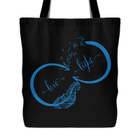 "LOVE LIGHT Infinity * Bohemian Attractive Shopping Bag * Perfect Yoga Gift * Tote Bag 18""X18""-YogaStatement.com"