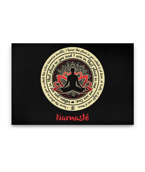 NAMASTE WE ARE ONE Buddha Meditation - Landscape Luxury High Quality Canvas Wall Art-YogaStatement.com