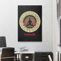 NAMASTE WE ARE ONE Buddha Meditation - Portrait Luxury High Quality Canvas Wall Art-YogaStatement.com