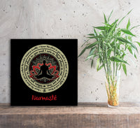 NAMASTE WE ARE ONE Buddha Meditation - Square High Quality Canvas Wall Art-YogaStatement.com
