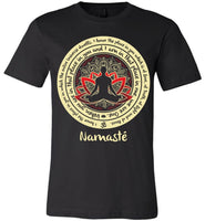 NAMASTE WE ARE ONE * Buddha Om Lotus Mandala * Unisex Men Jersey T-Shirt / Women Tee / Long Sleeve Shirt-YogaStatement.com