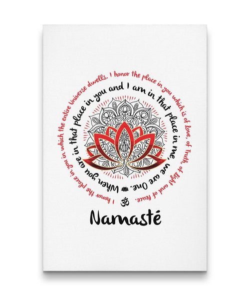 NAMASTE WE ARE ONE Mandala - Portrait High Quality Canvas Wall Art-YogaStatement.com