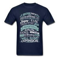ABC through Z Feel Good Typography - Abraham-Hicks Inspired - Ultra Cotton Adult T-Shirt - SP - navy