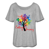 EMBRACE THE JOURNEY - Women's Flowy T-Shirt - SP - heather gray
