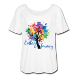 EMBRACE THE JOURNEY - Women's Flowy T-Shirt - SP - white