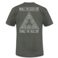 INHALE THE GOOD SHIT * Unisex Jersey T-Shirt (Back Print) - SP - asphalt