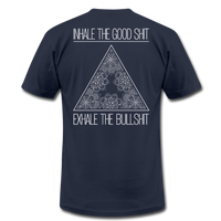 INHALE THE GOOD SHIT * Unisex Jersey T-Shirt (Back Print) - SP - navy
