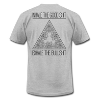 INHALE THE GOOD SHIT * Unisex Jersey T-Shirt (Back Print) - SP - heather gray