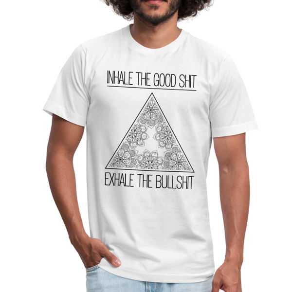 INHALE THE GOOD SHIT * Unisex Jersey T-Shirt - SP - white
