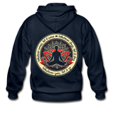 WHATEVER COMES * Heavy Blend Adult Zip Hoodie - SP - navy