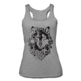 HUSKY BOHO STYLE * Women's Tri-Blend Racerback Tank - heather gray
