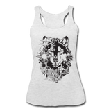HUSKY BOHO STYLE * Women's Tri-Blend Racerback Tank - heather white