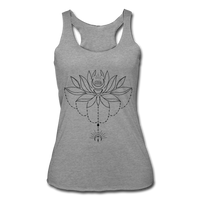 ENCHANTED LOTUS * Women's Tri-Blend Racerback Tank - heather gray