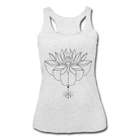 ENCHANTED LOTUS * Women's Tri-Blend Racerback Tank - heather white