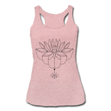 ENCHANTED LOTUS * Women's Tri-Blend Racerback Tank - heather dusty rose