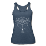 ENCHANTED LOTUS * Women's Tri-Blend Racerback Tank - heather navy