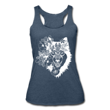 WOLF BOHO STYLE * Women's Tri-Blend Racerback Tank - heather navy