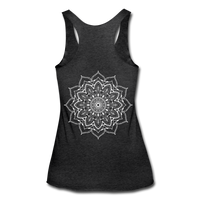 Mandala Women's Tri-Blend Racerback Tank * Style 11 - heather black