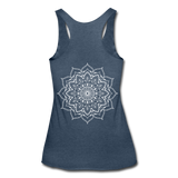 Mandala Women's Tri-Blend Racerback Tank * Style 11 - heather navy