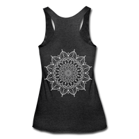 Mandala Women's Tri-Blend Racerback Tank * Style 12 - heather black
