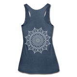 Mandala Women's Tri-Blend Racerback Tank * Style 12 - heather navy