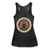 WHATEVER COMES LET IT COME * Women's Tri-Blend Racerback Tank - heather black