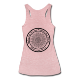WHATEVER COMES LET IT COME Mandala Circle *Women's Tri-Blend Racerback Tank - heather dusty rose
