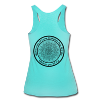 WHATEVER COMES LET IT COME Mandala Circle *Women's Tri-Blend Racerback Tank - turquoise