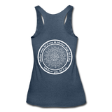 WHATEVER COMES LET IT COME Mandala Circle *Women's Tri-Blend Racerback Tank - heather navy
