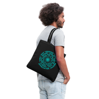 ABC FEEL GOOD VORTEX * Tote Bag Teal Text - SP - black