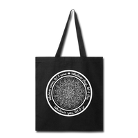 WHATEVER COMES LET IT COME Mandala * Tote Bag - SP - black