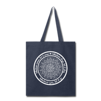 WHATEVER COMES LET IT COME Mandala * Tote Bag - SP - navy