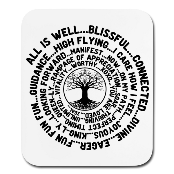 ABC Feel Good Tree of Life * Mouse Pad Red Text - SP - white