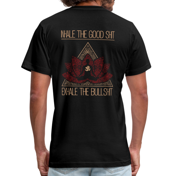 INHALE THE GOOD SHIT * Unisex Jersey T-Shirt by Bella + Canvas - SP - black