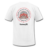NAMASTE WE ARE ONE Red Black Print * Unisex Jersey T-Shirt by Bella + Canvas - SP - white