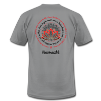 NAMASTE WE ARE ONE Red Black Print * Unisex Jersey T-Shirt by Bella + Canvas - SP - slate