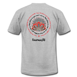 NAMASTE WE ARE ONE Red Black Print * Unisex Jersey T-Shirt by Bella + Canvas - SP - heather gray