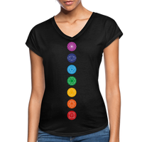 SEVEN CHAKRAS Bright - Women's Tri-Blend V-Neck T-Shirt - SP - black