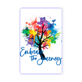 EMBRACE THE JOURNEY (Blue Text) - Magnets 3x2 (set of 2)