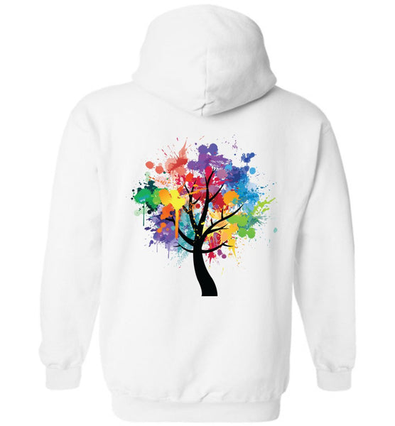 TREE OF LIFE Watercolor Abstract Graphics * Heavy Blend Hooded Sweatshirt-YogaStatement.com