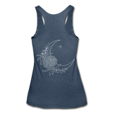 TRENDY MOOM FLOWERS Women's Tri-Blend Racerback Tank-YogaStatement.com