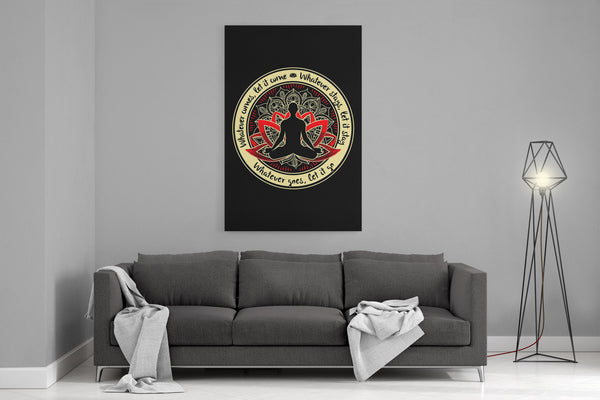 WHATEVER COMES Buddha Meditation - Portrait Luxury High Quality Canvas Wall Art-YogaStatement.com