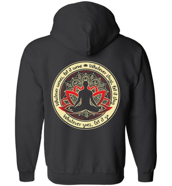 WHATEVER COMES Buddha Meditation * Unisex Men Full Zip Hoodie-YogaStatement.com