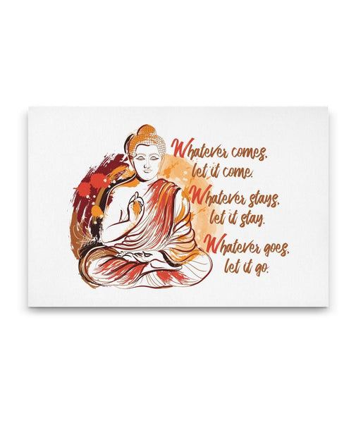 WHATEVER COMES Buddha Sitting Meditating Watercolor - Landscape Luxury High Quality Canvas Wall Art-YogaStatement.com
