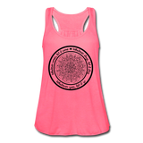 WHATEVER COMES CIRCLE Women's Flowy Tank Top by Bella - SP - neon pink