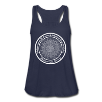 WHATEVER COMES CIRCLE Women's Flowy Tank Top by Bella - SP - navy