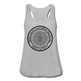 WHATEVER COMES CIRCLE Women's Flowy Tank Top by Bella - SP - heather gray