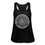 WHATEVER COMES CIRCLE Women's Flowy Tank Top by Bella - SP - black